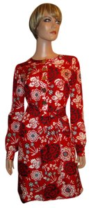 Tory Burch Duponi Silk Floral Dress