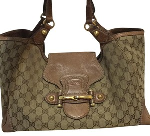 Gucci Satchel in Tan And Beige