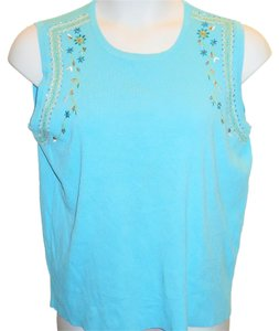 dressbarn Top Blue Turquoise