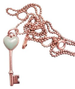 Tiffany & Co. Tiffany Keys Heart Key Charm Pendant with Blue Enamel