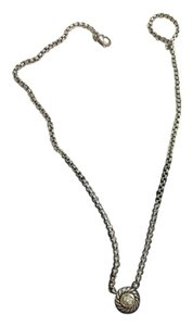 David Yurman David Yurman Cookie Pendant Necklace Diamond Pave