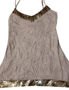 Arden B. Sequins Top Beige