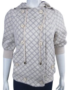 Marc by Marc Jacobs Quilted Navy Hood Sweatshirt
