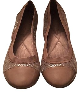 INC International Concepts Nude and Silver Flats