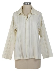 Eskandar Button Down Shirt ivory