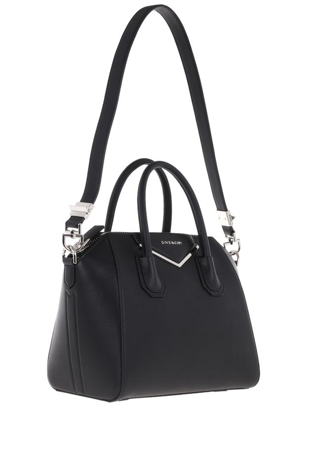 Givenchy Small Antigona with Metal Plate Detail Black Leather ... de4ea14ee6c19
