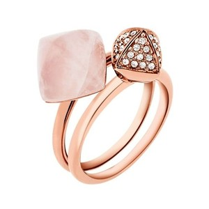 Michael Kors Michael Kors MKJ5255 2 Stackable Rose Gold Crystal Rings SZ 7 NEW!