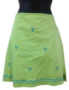 Bamboo Trading Company Skirt Lime green, turquoise