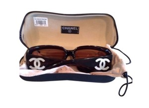 Chanel Chanel,Brown,Sunglasses,with,Mother,of,Pearl,CCs