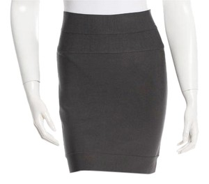 Herv Leger Fall Mini Skirt Dark Grey