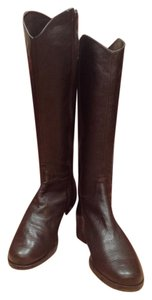 Vaneli Brown Riding Boot, Quality Pebble leather Boots