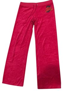 Juicy Couture Straight Pants Cherry pink