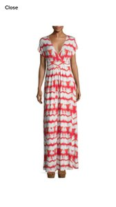 Coral Tie Dye Striped Maxi Dress by Tart