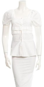 Miu Miu Button Down Shirt White ivory