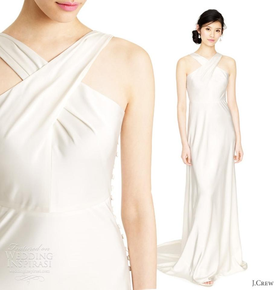 J.Crew Ivory Tricotine Fabric Sararose Destination Wedding Dress ...
