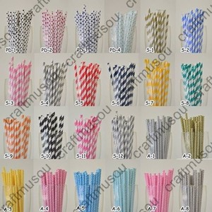100 Pieces Paper Drinking Straws