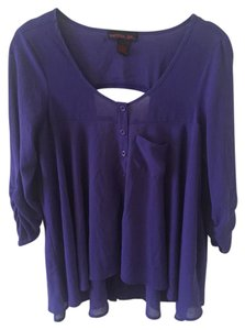 Material Girl Loose Fit Breathable Top Purple