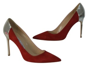 Manolo Blahnik RED/SILVER Pumps