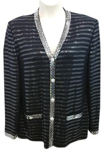 St. John Evening Black Knit Jacket Blazer