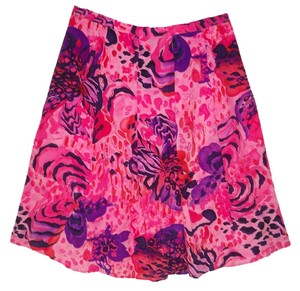 Diane Gilman Silk Pleated Skirt