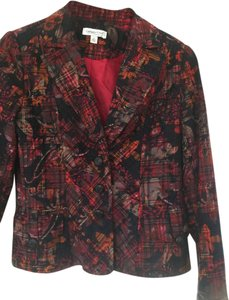 Coldwater Creek red/multi Blazer