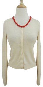 Magaschoni Coral Beaded Cardigan Sweater