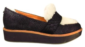 Australia Luxe Collective Platform Sheepskin Black Flats