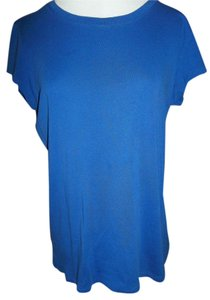 jcp Fitted Short Sleeve Cotton T Shirt Blue