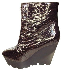 Cheap Monday Platform Wedge Burgondy Boots