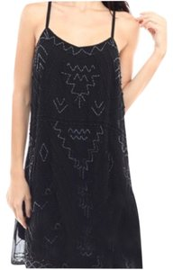 Moon Collection Beaded A-line Mini Dress