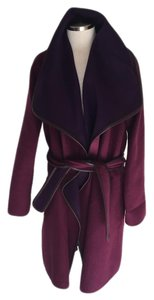 Vince Drape Wrap Purple Coat