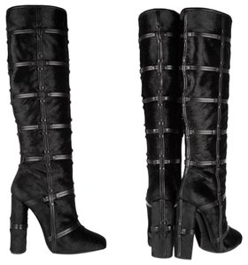 Tom Ford Black Calf Hair Leather Boots