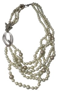 Alexis Bittar Alexis Bittar crystal fox and multi-strand pearl necklace