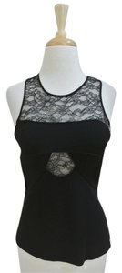 Robert Rodriguez Lace Sleeveless Top black