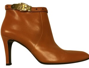 Gucci Ankle Rusted Orange Leather Boots