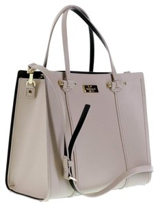 Kate Spade Leather Satchel in Beige (pebble)