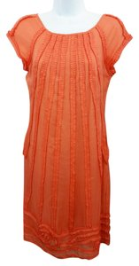 Catherine Malandrino short dress Coral Shift Silk on Tradesy