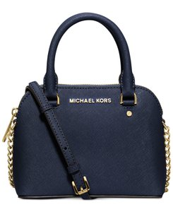 Michael Kors Leather Gold Cindy Cross Body Bag