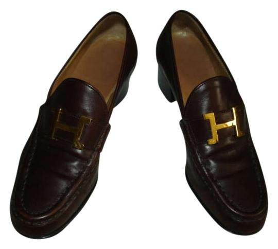 Preload https://item5.tradesy.com/images/hermes-brown-leather-loafers-pumps-size-us-55-194739-0-0.jpg?width=440&height=440