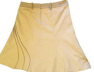 Nanette Lepore Skirt Beige with black embroidery