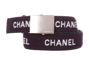 Chanel Navy terry cloth Chanel CC monogram print belt L Large