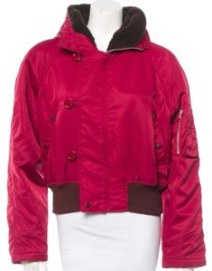 Miu Miu Puffy Hooded Magenta Pink Ski Coat