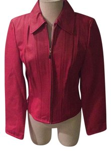 Moda International Red Leather Jacket