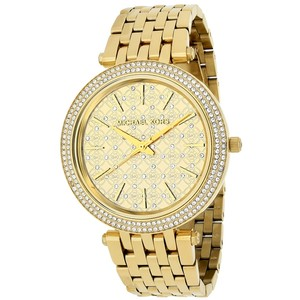 Michael Kors Michael Kors MK3398 Women's Darci Gold Tone Crystal-Set Dial Watch
