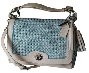 Coach Legacy Caning Romy 23411 Satchel in Robin Blue Sand