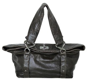 Chanel Lambskin Tote in Brown