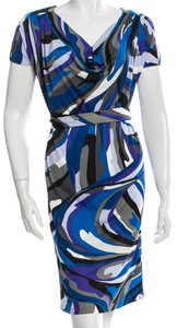 Emilio Pucci Print Monogram Logo Silk Dress