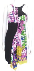 Versace short dress Multi-Color Floral Neckline on Tradesy