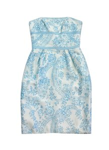 Kay Unger short dress Blue Floral Lace Print on Tradesy