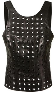 Thierry Mugler Leather Top Black
